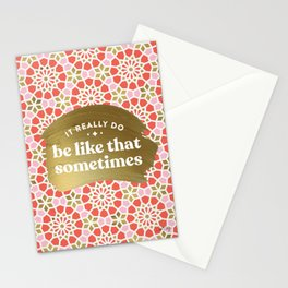It Really Do Be Like That Sometimes – Coral & Gold Palette Stationery Cards