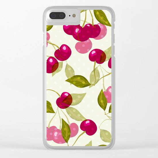 Sweet cherry . Clear iPhone Case