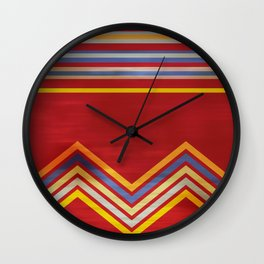 Stripes and Chevrons Ethic Pattern Wall Clock