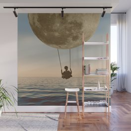 DREAM BIG/MOON CHILD SWING Wall Mural