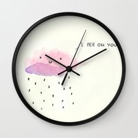 good morning Wall Clocks featuring Good morning  by Alba Blázquez