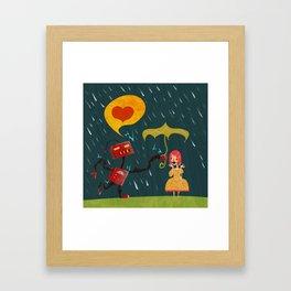 I Love You! Framed Art Print