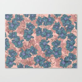 Faded Hibiscus Pink Canvas Print