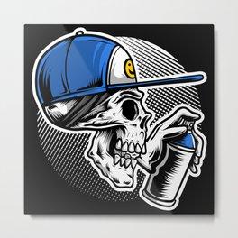 Skull vandal Metal Print