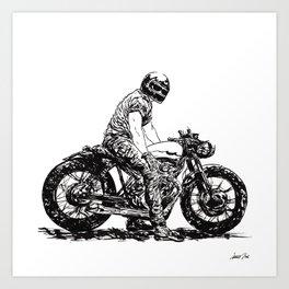 Rider 5 RAW Art Print