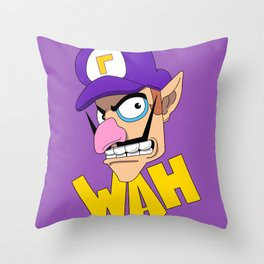 WAH! Waluigi Throw Pillow