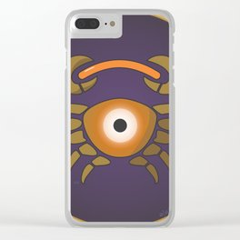 cancer's eye Clear iPhone Case