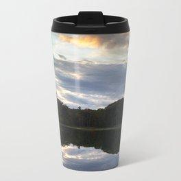 Mill Pond Sunset Metal Travel Mug