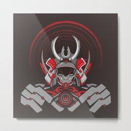 Qween Samurai  Metal Print
