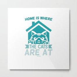 Pet cat cat mummy animal lover Metal Print