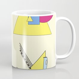 The Shape Haus: a Contemporary Bauhaus Composition Coffee Mug