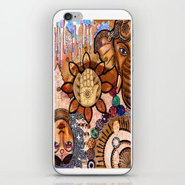 Ganesha Laxmi Blessing iPhone Skin