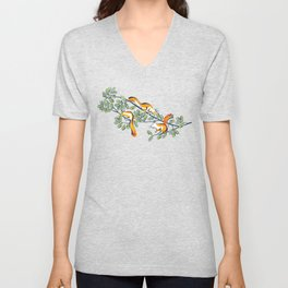 Oak Tree with Squirrels in Summer Unisex V-Neck