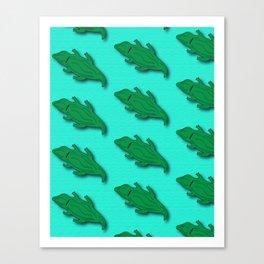 Lazy Gators Canvas Print