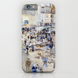 James McNeill Whistler Variations in Violet and Grey Market Place, Dieppe iPhone Case