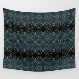 Cyprus Green & Velvety Black Abstract Scratch Design on Light Grey by artestreestudio Wall Tapestry