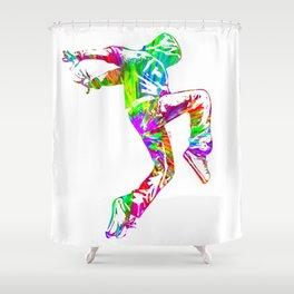 Hip-Hop Dance Shower Curtain