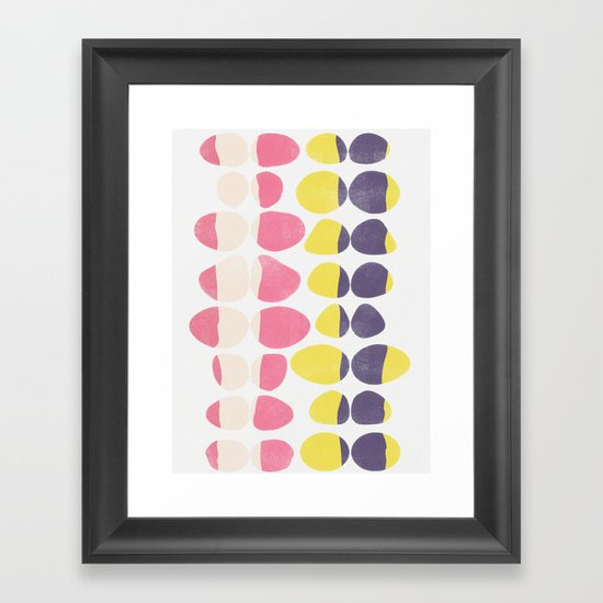 Painted Pebbles 3 Framed Art Print