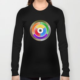 The theory of colouring - Diagram of colour by J. Bacon, 1866, Remake (with text) Long Sleeve T-shirt