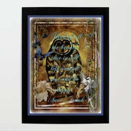 Owl and Quote From The Past Poster