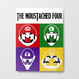 THE MOUSTACHED FOUR Metal Print