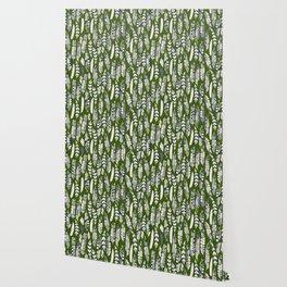 joyful feathers green Wallpaper