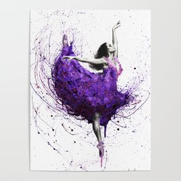Purple Rains Ballet Poster