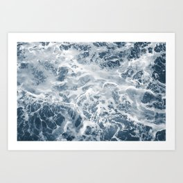 Pacific Ocean Waves Pattern Aerial Photography Art Print