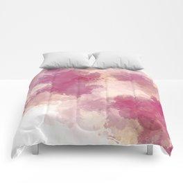 Mauve Dusk Abstract Cloud Design Comforters