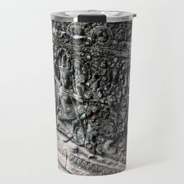 Cambodian Temple Wall Travel Mug