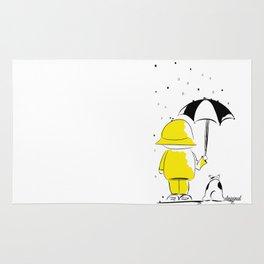 en la lluvia Rug