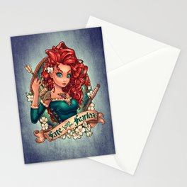 Fate Loves The Fearless Stationery Cards