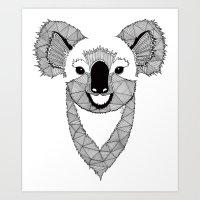 koala Art Prints featuring Koala by Art & Be