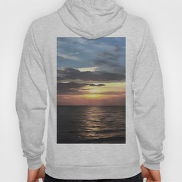Pefect Living Coral Colored Ocean Sunrise Hoody