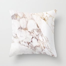 Onyx White Marble Throw Pillow