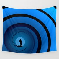 bond Wall Tapestries featuring Bond Man by Steve Purnell