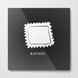 Pasta Series: Ravioli Metal Print