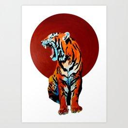 Tiger and Sun Art Print