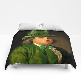 St Patrick's Day for Lucky Ben Franklin Comforters