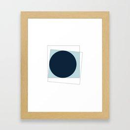 #368 New moon – Geometry Daily Framed Art Print