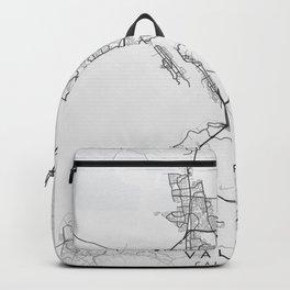 Vallejo - California - US Gray Map Art Backpack