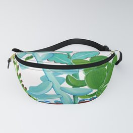 Indian Pot with Succulents Fanny Pack