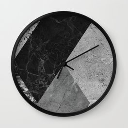 Marble and Granite Abstract Wall Clock