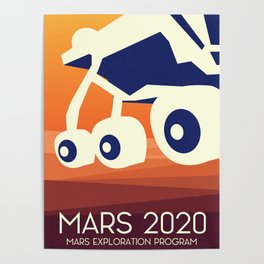 Mars 2020 Rover Poster