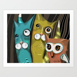 The Owl and the 2 Pussycats Art Print