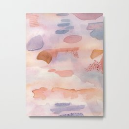 Dream Abstract Watercolor Painting Metal Print