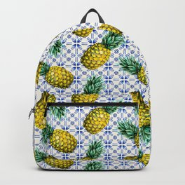 Pattern of Moroccan pineapples and tiles Backpack