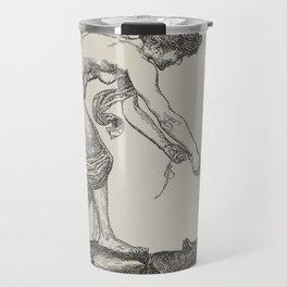 Nude Classical Woman Riding a Beetle 1895-1896 Travel Mug