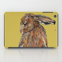 hare iPad Cases featuring Hare by Louisa Heseltine