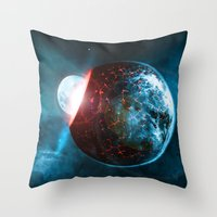 planet Throw Pillows featuring Planet by Floyd Triangle